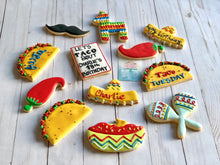 Load image into Gallery viewer, Taco Tuesday cookie theme