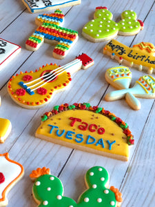 Taco Tuesday cookie theme