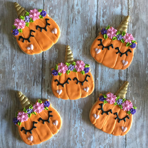 Unicorn Pumpkin Cookies