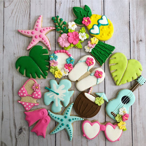 Beach theme cookies