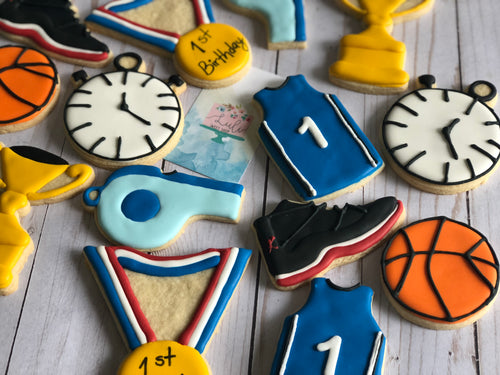 Basketball theme cookies