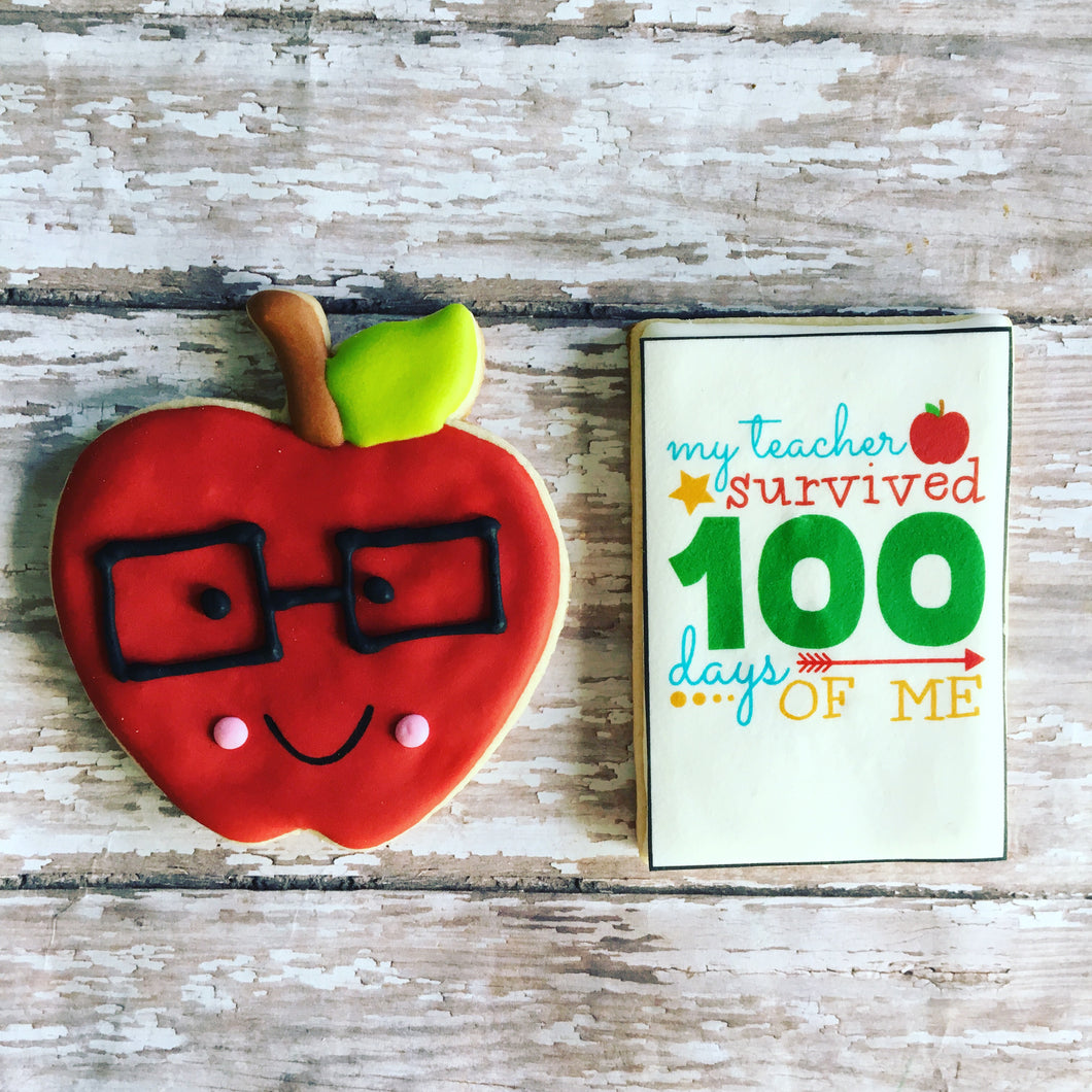 100 Days of School cookies