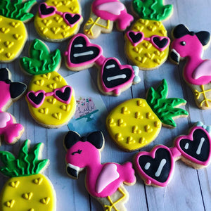 Tropical Flamingo theme Cookies