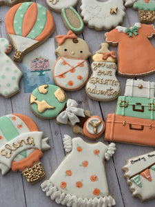 Air Balloon Baby shower cookies