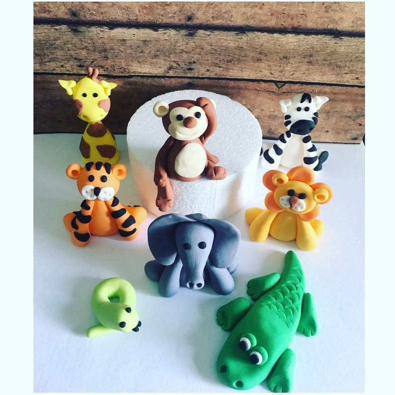 Safari Animals Cake toppers (8)