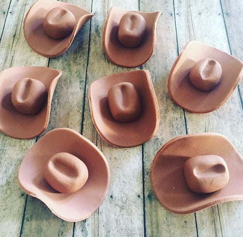 Fondant Cowboys hats cupcakes toppers