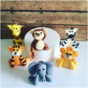 Safari Animals Cake toppers