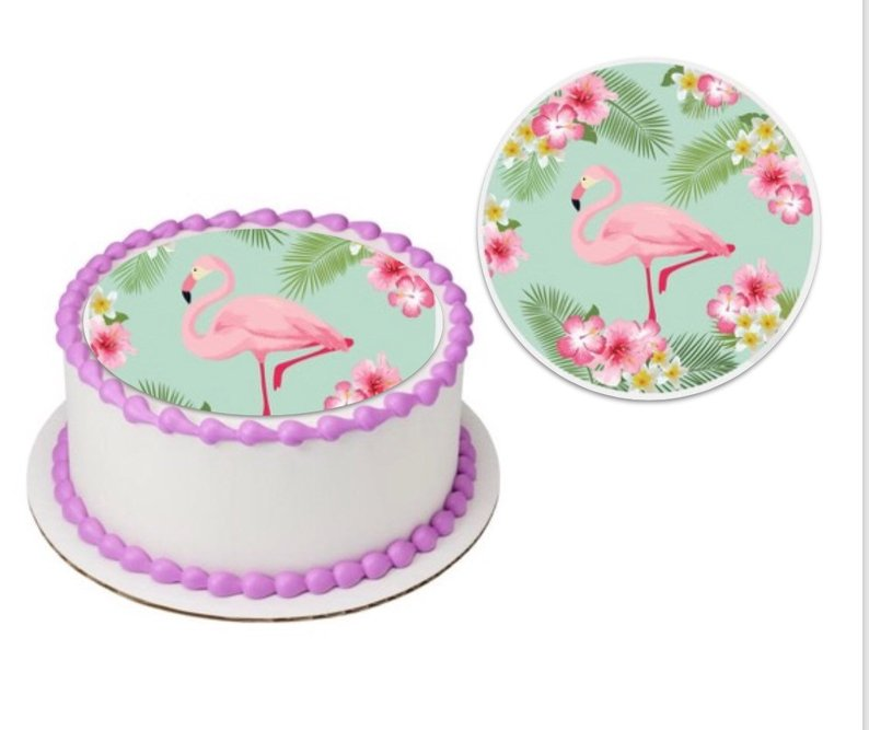 Flamingo Edible Sheet