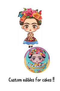 Frida Edible Sheet 8""