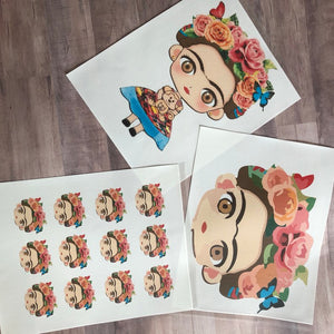 Frida Face Edible Sheet