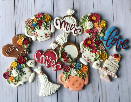 Wedding Bridal shower cookies