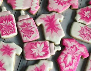 Tie dye Baby shower cookies