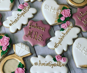 Bridal shower cookies