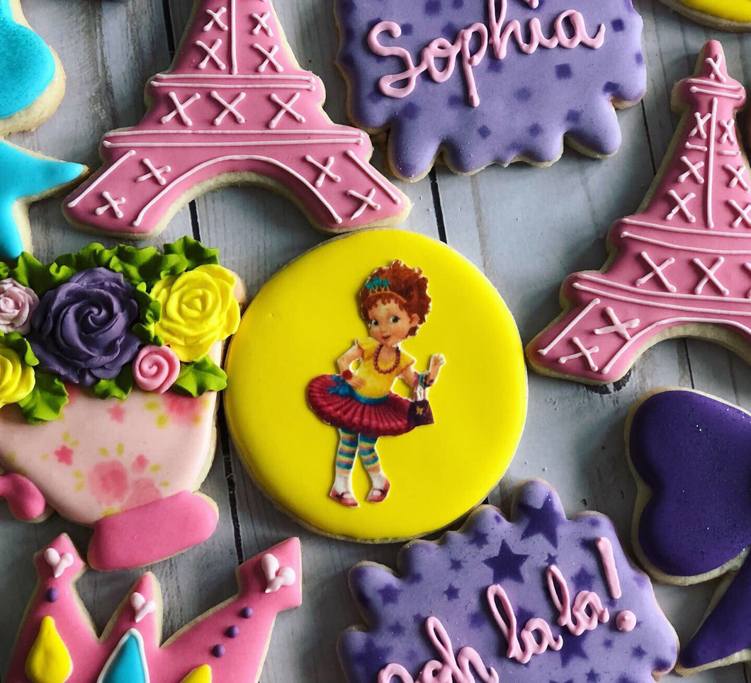 Tea Party Birthday Theme Cookies