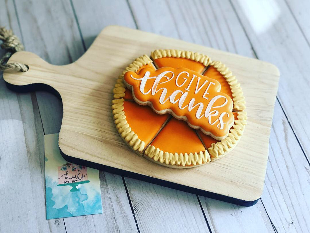 Thanksgiving Pie cookies gift