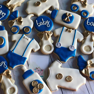 Boy Baby shower cookies