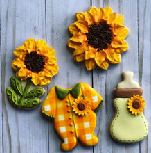 Load image into Gallery viewer, Baby sunflower theme Cookies