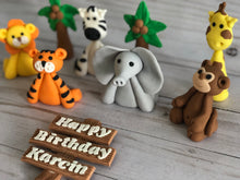 Load image into Gallery viewer, Safari Animals Cake toppers