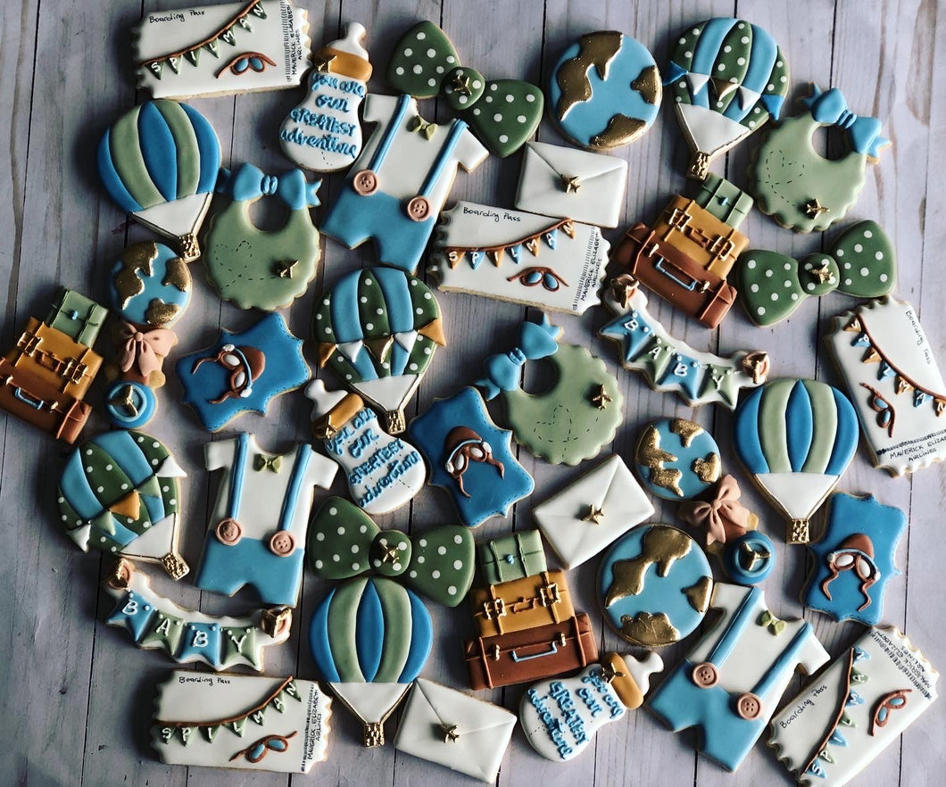 Travel Baby shower cookies