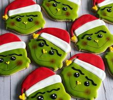 Load image into Gallery viewer, Grinch Christmas Cookie