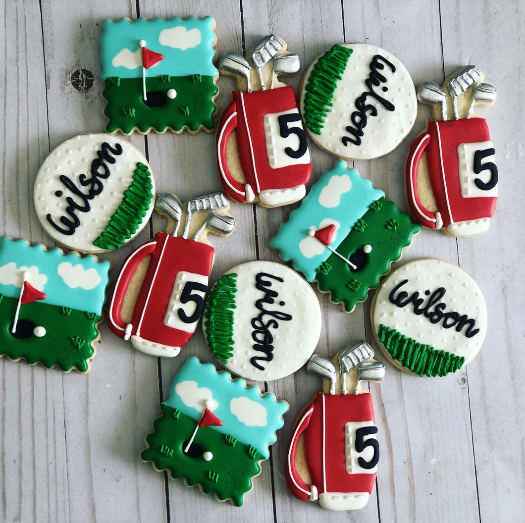 Red Golf theme cookies