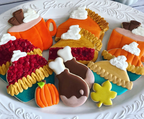 Thanksgiving food theme Cookies