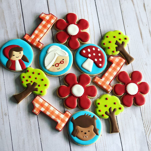 Little red Riding Hood Theme Cookies