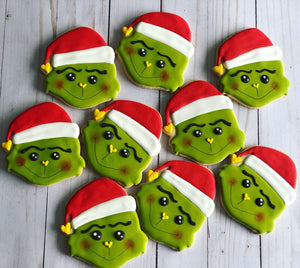 Grinch Christmas Cookie