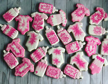 Load image into Gallery viewer, Tie dye Baby shower cookies