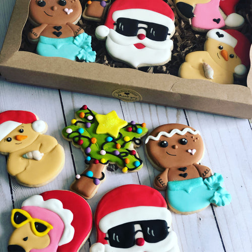 Tropical Christmas Cookies set
