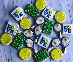 Tennis theme cookies