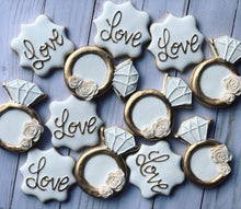 Load image into Gallery viewer, Wedding theme cookies