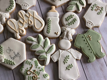 Load image into Gallery viewer, Natural Baby shower cookies