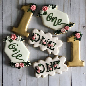 1st Birthday Theme Cookies