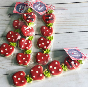 Mini Apple teacher cookies