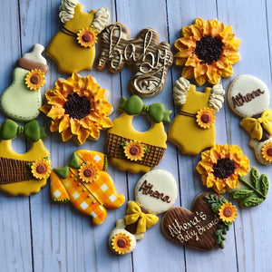 Sunflower Baby shower cookies