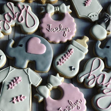 Load image into Gallery viewer, Elephant Baby shower cookies