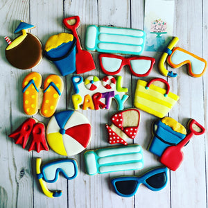 Pool Party theme Cookies