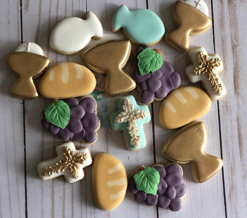 Mini Communion/Baptism cookies