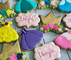 Princess Dresses Cookies