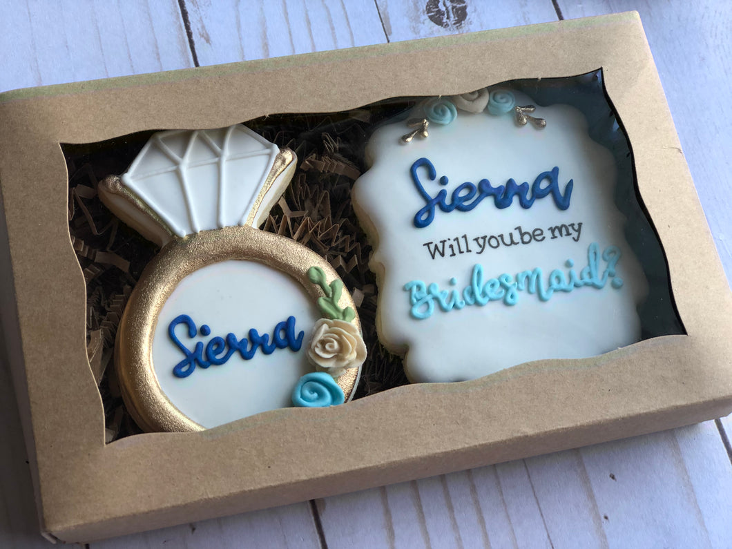 Bridesmaids cookies gift