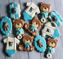 Load image into Gallery viewer, Bear Baby shower cookies