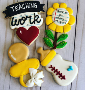 Toddler/ PRE-K teachers theme cookies