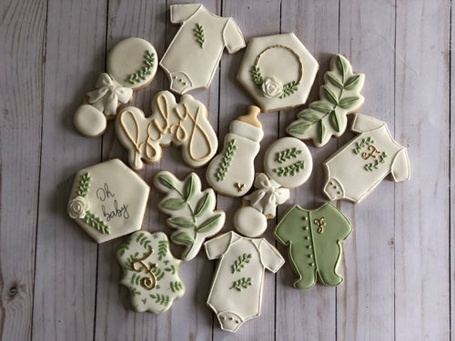 Natural Baby shower cookies