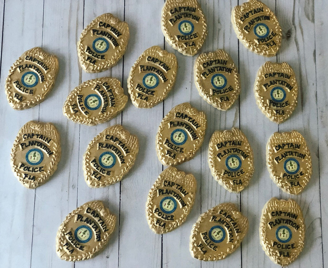 Police badges Cookies