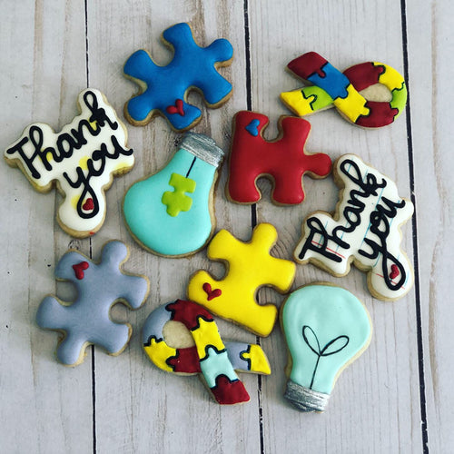 Mini Autism therapists theme cookies