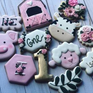 One year old Animal Farm Cookies