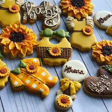 Load image into Gallery viewer, Sunflower Baby shower cookies
