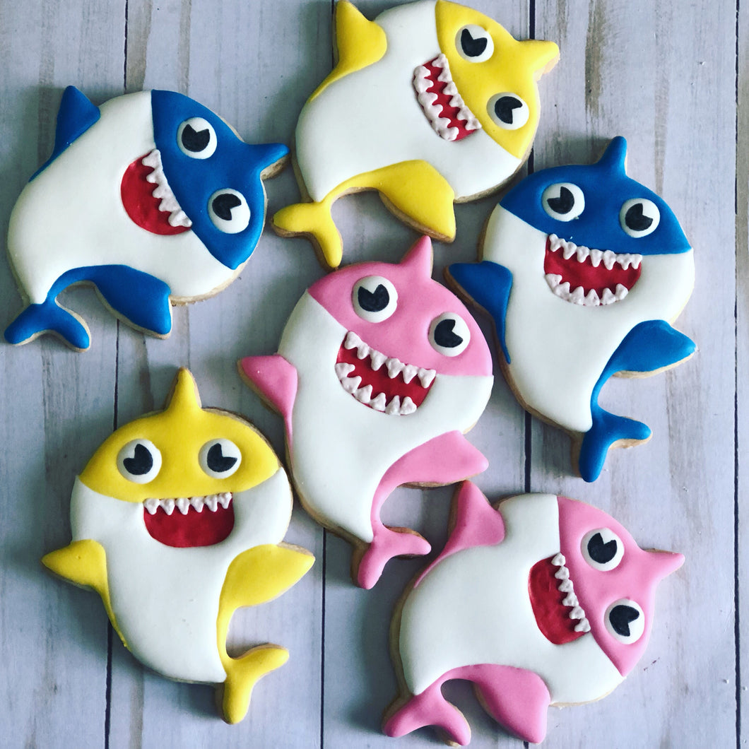 Girl Baby shark Cookies