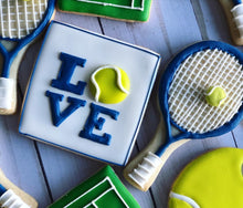 Load image into Gallery viewer, Tennis theme cookies